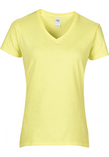 Ladies' Premium Cotton V-neck T-shirt