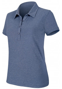 Ladies' short-sleeved melange polo shirt