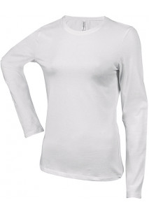 Carla > Ladies' long-sleeved crew neck T-shirt