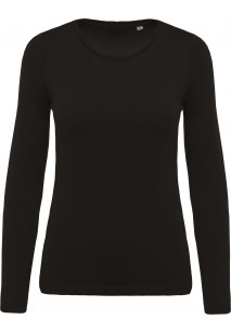 Ladies' organic cotton crew neck long-sleeved T-shirt