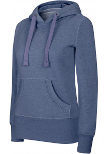 Ladies' melange hooded sweatshirt