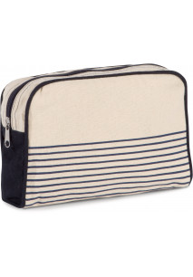 Vanity case in cotton canvas - duffel style