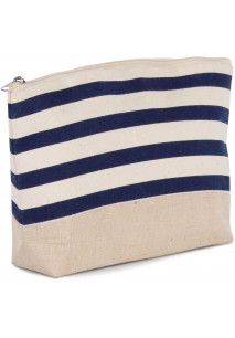 Nautical print accessories pouch