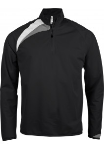 Kids' zip neck training top