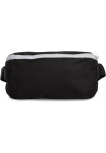 Waistbag with modern fastening in contrasting colours.
