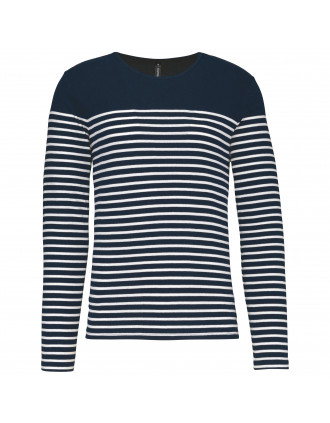 Men's long-sleeved Breton stripe top