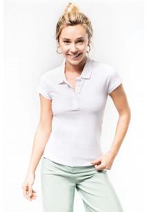Ladies' organic piqué short-sleeved polo shirt