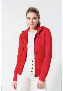 Ladies' organic full zip hooded sweatshirt
