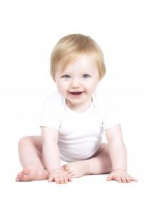 Contrast Short-Sleeved Baby Bodysuit