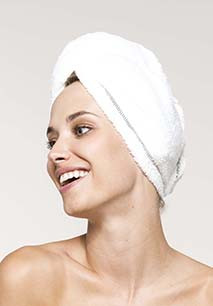 Ultra-soft microfibre hair towel