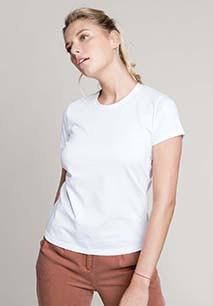 Ladies' short-sleeved crew neck T-shirt