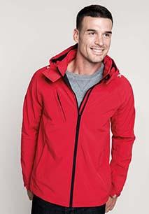 Men's detachable hooded softshell jacket