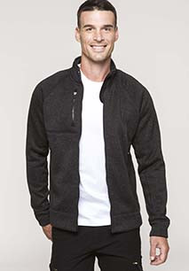 Men's full zip heather jacket