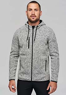 Men's heather hooded jacket