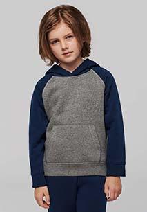 Kids' two-tone hooded sweatshirt