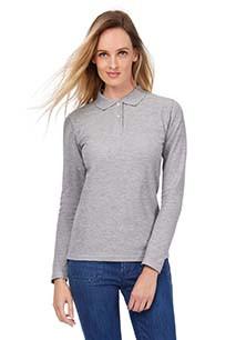 ID.001 Ladies' long-sleeved polo shirt