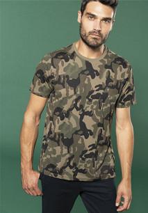 Men's short-sleeved camo t-shirt