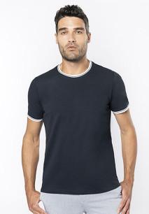 Men's piqué knit crew neck T-shirt