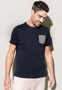 Organic cotton T-shirt with pocket detail