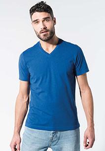 Men's organic cotton V-neck T-shirt