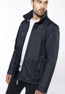 Score > Detachable-sleeved blouson jacket