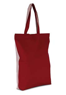 Two-tone cotton tote bag