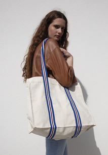 Fashion shopping bag in organic cotton