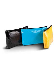 Coated cotton toiletry bag