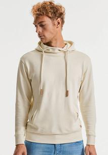 Pure Organic high neck hooded sweatshirt