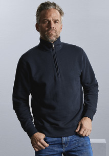 Authentic zipped neck sweatshirt