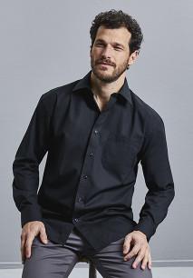Men's Long-Sleeved Pure Cotton Poplin Shirt