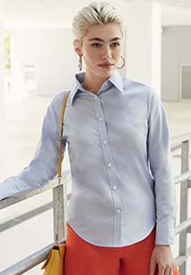 Ladies' Long-Sleeved Oxford Shirt (65-002-0)