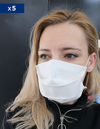 Reusable Face Mask- Non Sanitary Use, (Cat. 1  from AFNOR Norm) Sold in packs of 5 ex