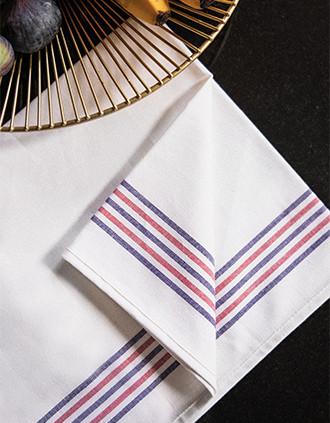 """Striped tea towel - """"Origine France Garantie"""""""