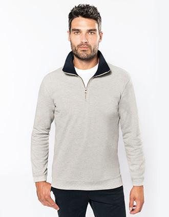 Trucker > Zip neck piqué sweatshirt