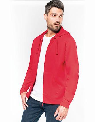 Men's full zip hooded sweatshirt