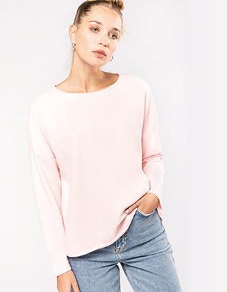 Ladies' oversized sweatshirt