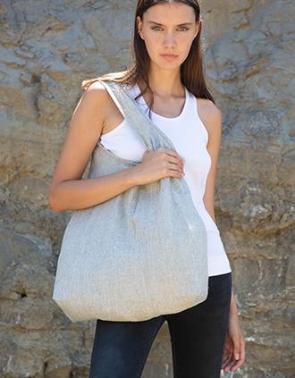 Hand-woven shopping bag