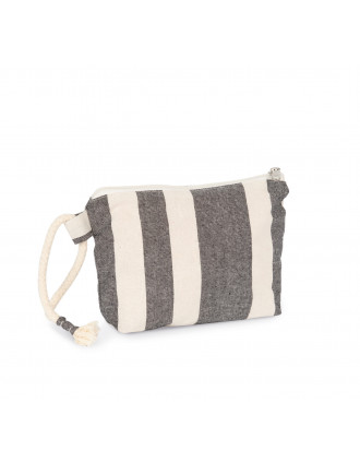 Recycled pouch - Striped pattern