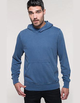 French terry hooded sweatshirt