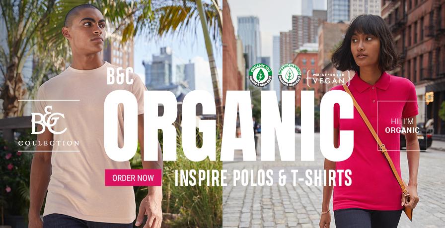 B&C - Organic Inspire Polos & t-shirts